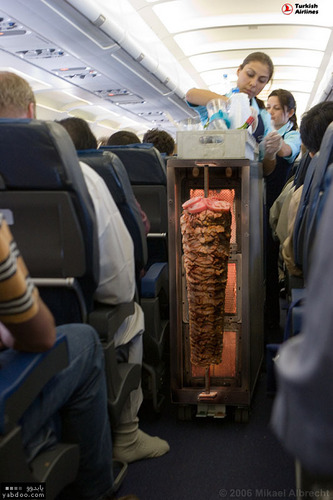 Shwarma on the plane